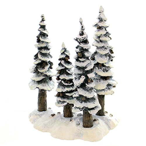 Dept 56 Heritage Village Pole Pine Forest 4 Trees with Base