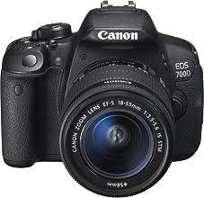 "Canon EOS 700D - Cámara réflex digital de 18 Mp (pantalla 3"", estabilizador), color negro - kit con objetivo EF-S 18-55mm f/3.5 IS STM [Importado]"