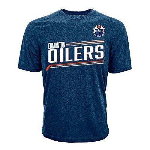 NHL Edmonton Oilers Connor McDavid Adult men Icing Name Men's Tee,XL,Solid Navy