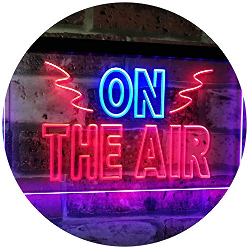 AdvpPro 2C On Air Studio Recording in Progress Dual Color LED Neon Sign Blue & Red 12'' x 8.5'' st6s32-i2066-br by AdvpPro 2C