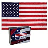Valley Forge, American Flag, Nylon PERMA-NYL, 20'x30′, 100% Made in USA, Heavy-Duty Brass Grommets, Sewn Stripes and Embroidered Stars