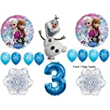 Frozen Blue 3rd Disney Movie Birthday Party Balloons Decorations Supplies