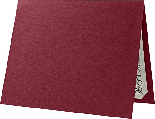 Certificate Holders (9 1/2 x 12) - Burgundy Linen - Red (25 Qty.) | Perfect for Award Recognition, Certificates, Documents and More! | CHEL-185-DB100-25 ()