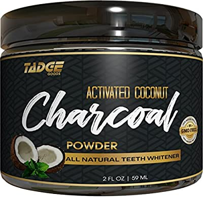 Activated Charcoal Teeth Whitening Powder – Organic Coconut Active Charcoal Tooth Whitener Will Wow You. Use Like Toothpaste & Skip the Strips, Kits and Gel!