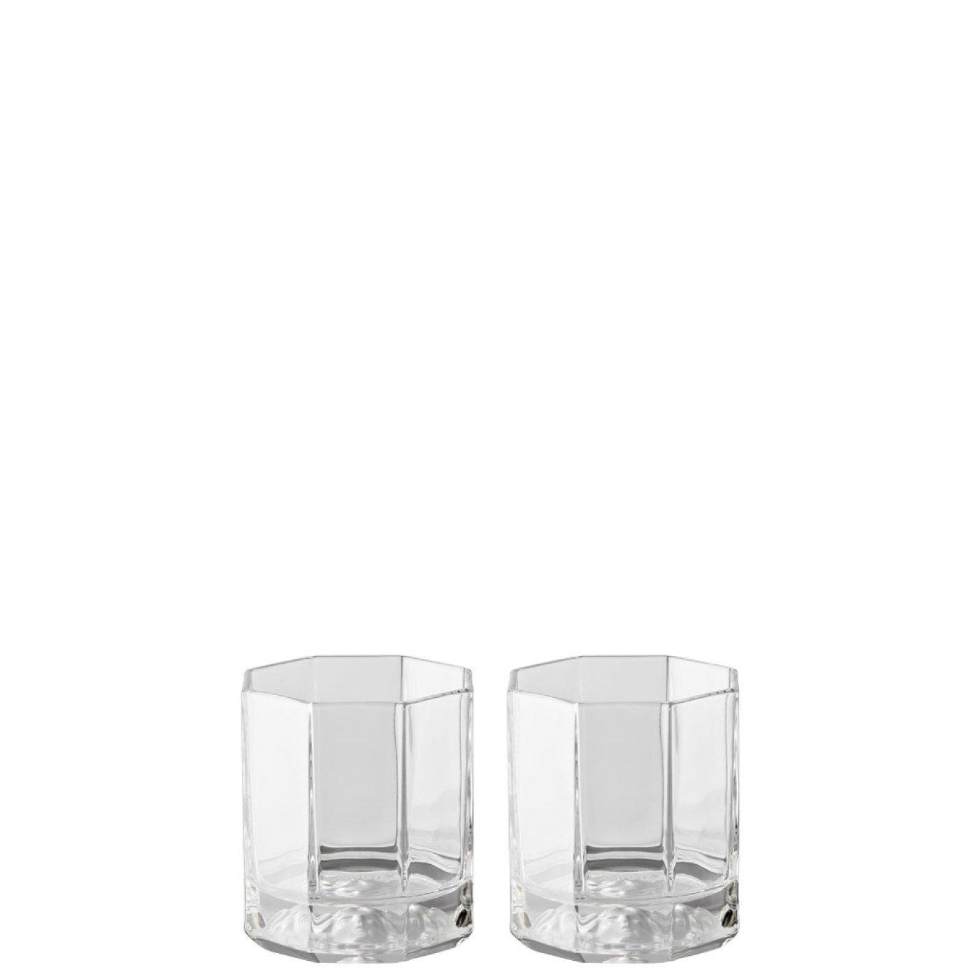 Rosenthal Versace Whiskey Glasses Medusa Lumiere / Elegant Crystal Glassware Designed by Gianni Versace / Set of 2 Tumblers