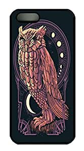 Covers Owls Art HAC1014375 Custom PC Hard Case Cover for iPhone 5/5S Black