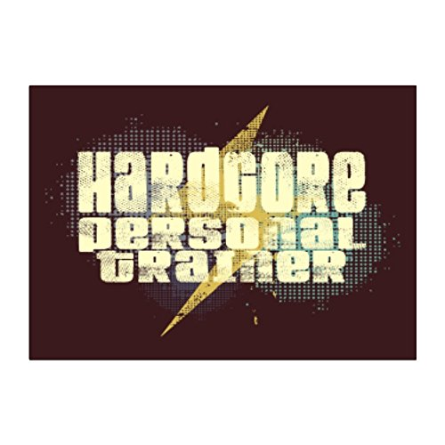Teeburon Hardcore Personal Trainer Pack of 4 Stickers