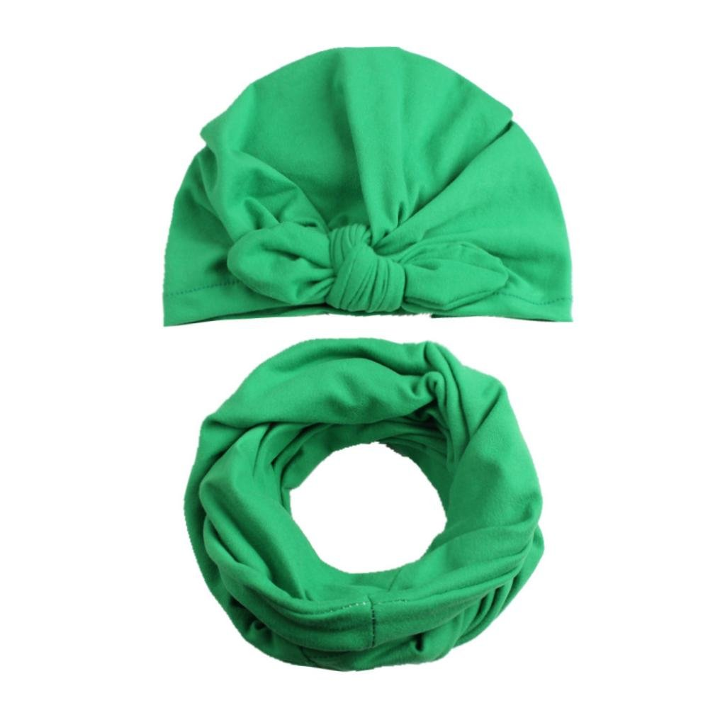 LNGRY Autumn Winter Baby Hat Girl Boy Cap Hats Toddler Kids Hat Scarf Collars