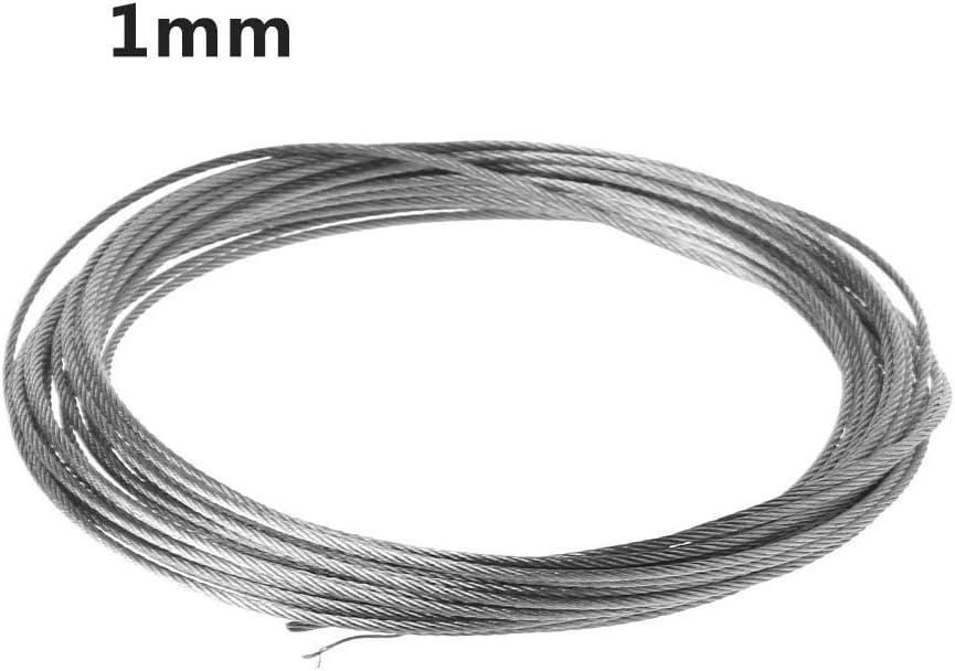 BIlinli Neue 5m 304 Edelstahl Drahtseil Soft Fishing Hebekabel 7 /× 7 W/äscheleine