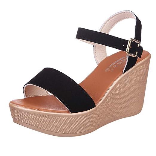 32b27839f31a7 Amazon.com: Women Wedge Sandals Summer,SIN+MON Womens Fashion ...
