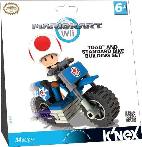 K'NEX Nintendo Mario Kart Wii Toad Bike Building Set - Wii Games For 7 Year Old Boys