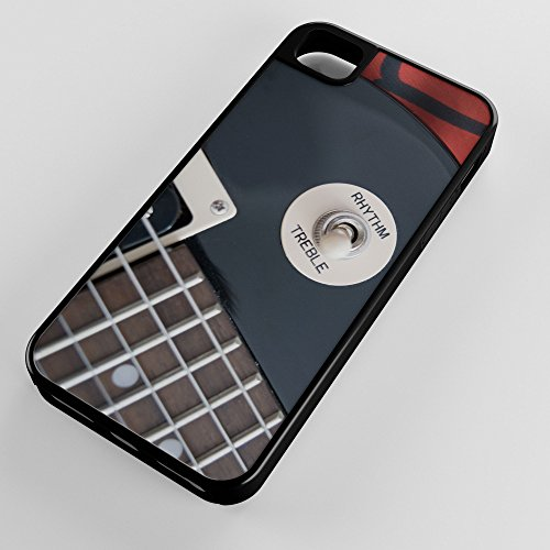 iPhone Case Fits Apple iPhone 6 PLUS 6+ Hybrid Tough Case Electric Guitar Switch Instrument Sound And Music Black Plastic Black Rubber by TYD Designs