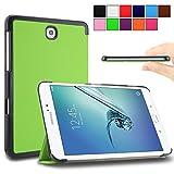 Galaxy Tab S2 8.0 case - Infiland Samsung Galaxy Tab S2 8.0 Case, Ultra Slim Tri-Fold Smart Case Cover for Samsung Galaxy Tab S2 8-Inch Tablet Only (Tab S2 8.0 , Green)