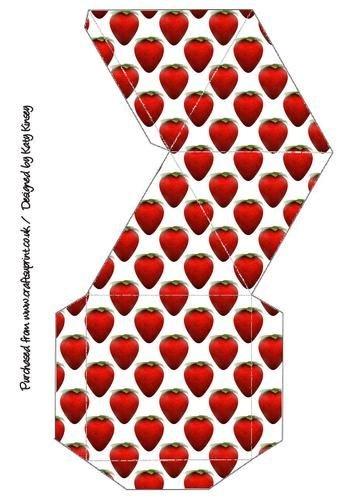 Juicy - Caja de regalo de pirámide, diseño de fresas por Katy Kinsey: Amazon.es: Hogar