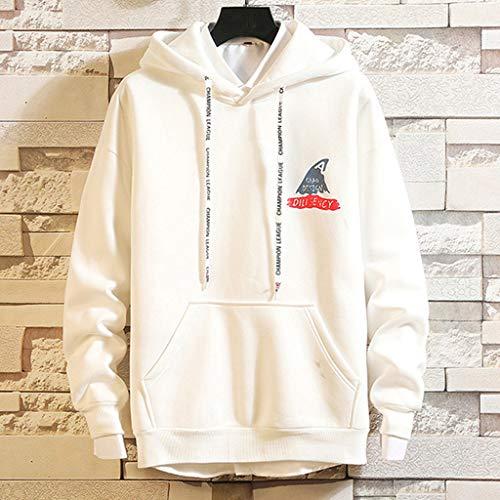 Amazon.com: Mens Hoodies,Shark Printed Hooded Sweatshirt Hip Hop Pullover of Teen Boy Zulmaliu: Clothing