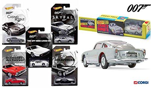 James Bond Exclusive Hot Wheels Set 2015 & Corgi Goldfinger 1963 DB5 (Mach 5 Replica Car)