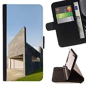 For Sony Xperia Z3 Compact / Z3 Mini (Not Z3),S-type Arquitectura Moderna Casa- Dibujo PU billetera de cuero Funda Case Caso de la piel de la bolsa protectora