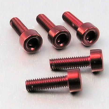 0.5mm Aluminium Allen Bolt M3 x x 10mm Pack x 5 Red