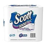 Scott 1000 Sheets Per Roll Toilet Paper, 27 Rolls, Bath Tissue