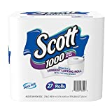 Image of Scott 1000 Sheets Per Roll Toilet Paper, 27 Rolls, Bath Tissue
