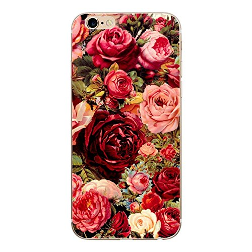 Desirca Phone Case Capa for iPhone 7 Cactus Cover Flower Rose Plant Leaves Silicone Shell Funda for iPhone 7 Plus 8 6 6S 5S Se 5 Multi for iPhone 7 Plus