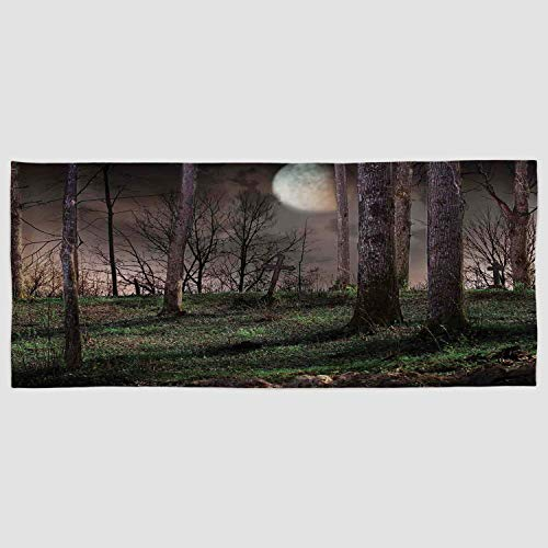 iPrint Cotton Microfiber Hand Towel [ Gothic,Dark Night