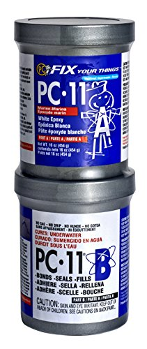 PC Products 160114 PC-11 Two-Part Marine Grade Epoxy Adhesive Paste, 1 lb in Two Cans, Off - Aquarium Epoxy