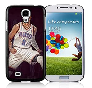 Fashionable Skin Case For Samsung Galaxy S4 I9500 i337 M919 i545 r970 l720 With Russell Westbrook Samsung Galaxy S4 Black Phone Case 383