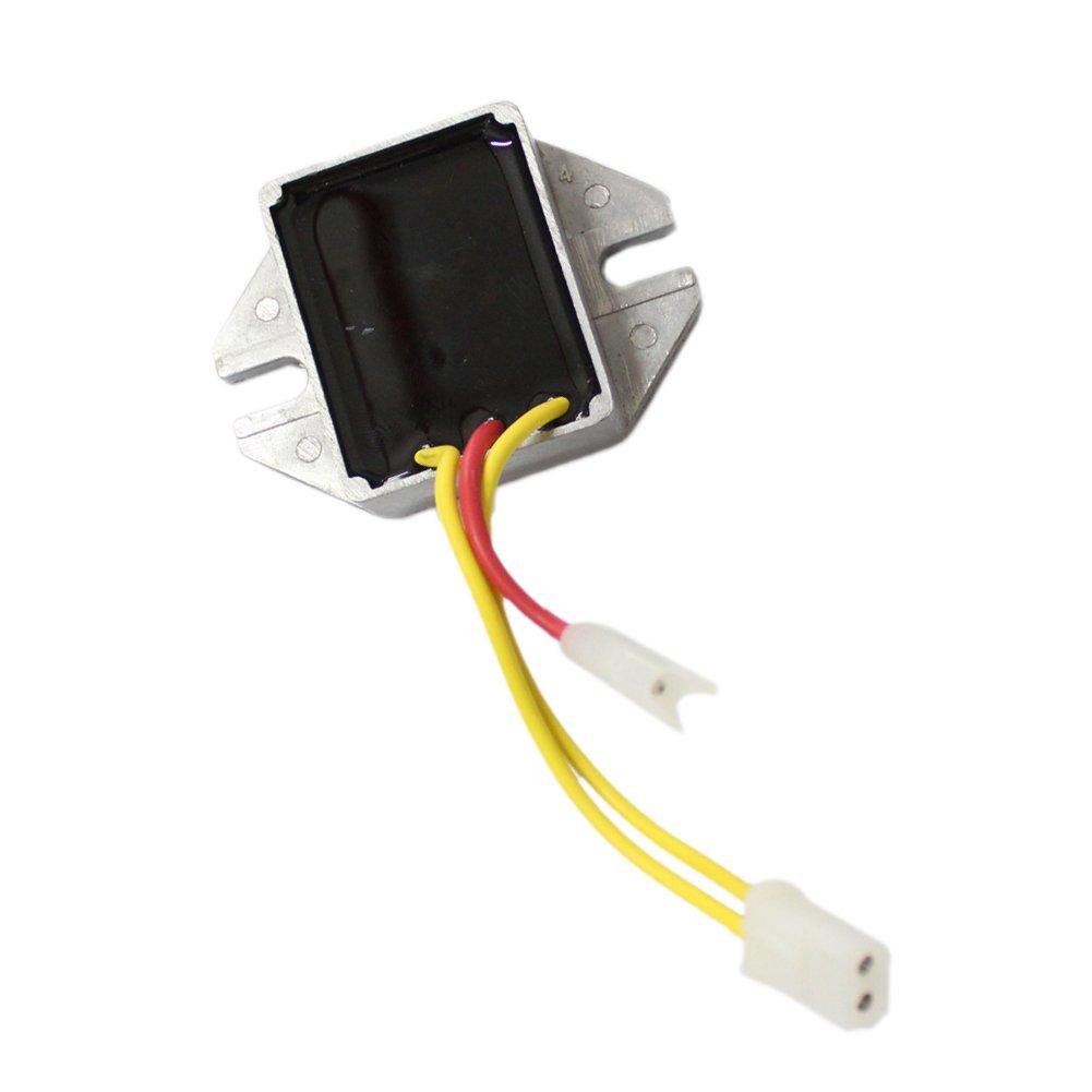 New Voltage Regulator For Briggs & Stratton 192400 196400 394890 393374 691185 797375 797182 845907 Replace JOHN DEERE LG691185 MIU12514 BYNORM 340-080 OREGON 33-402 PRIME LINE 7-01695 SUNBELT BR-16 , B1BR16 Replace Stens 435-195 ZY 00837