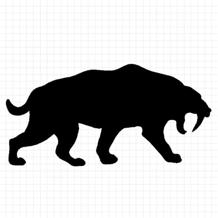 Amazon Co Jp Saber Tiger Silhouette Animal Sticker White White Medium Vertical And Horizontal 3 1 X 3 1 Inches 8 X 8 Cm Set Of 2 Office Products Large collections of hd transparent tiger silhouette png images for free download. saber tiger silhouette animal sticker