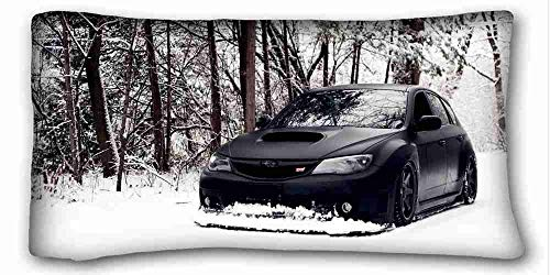 Bikini bag Custom (Nature Snow Snow Cars Subaru Black Cars Subaru Impreza WRX sti Nature Snow) Soft Pillow Case Cover 20 30 Inch (One Sides) Zippered Pillowcase Suitable for Full-Bed (Best Subaru For Snow)