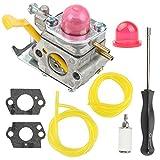 530071752 530071822 Carburetor + Adjusting Tool for Poulan Craftman Weed Eater Featherlite SST25 FL20 FL20C FL23 FL26 FX26S FX26SC MX550 MX557 P1500 P2500 P3500 SST25C TE475Y TE475 Trimmer C1U-W18
