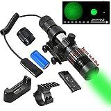 Beileshi Adjustable Green Laser Pointer Laser Sight Designator/Illuminator/Flashlight W/Weaver Mount