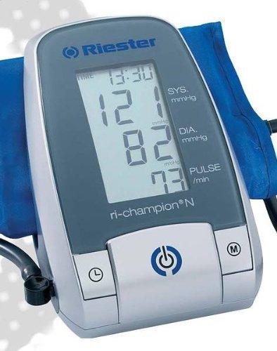 Riester - Automatic digital sphygmomanometer, pull through strap velcro cuff latex free, children size, Ri-champion N - -