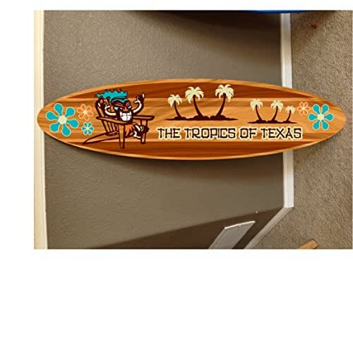 5' wall hanging surf board surfboard decor hawaiian beach surfing beach decor