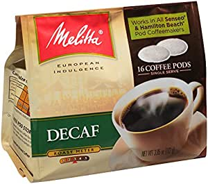 melitta coffee pods for senseo and hamilton beach pod brewers decaf pack of 6 16 count bags. Black Bedroom Furniture Sets. Home Design Ideas