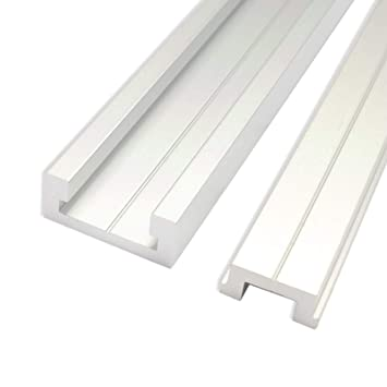 36-Inch POWERTEC 71372 Double-Cut Profile Universal T-Track with Predrilled Mounting Holes 4-PK 91.44 cm