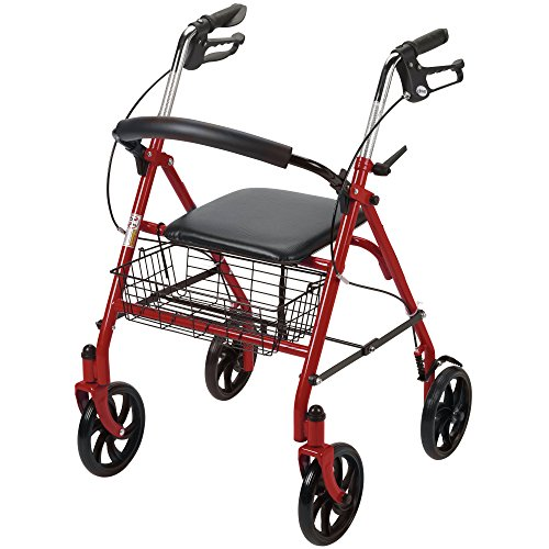 Drive-Medical-Four-Wheel-Rollator-with-Fold-Up-Removable-Back-Support-Red