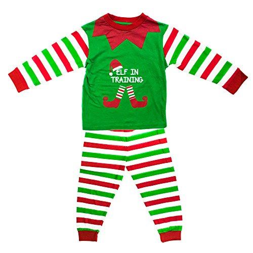 Kids Elf in Training Matching Family Christmas Elf Pyjamas - 1-2 Years ()
