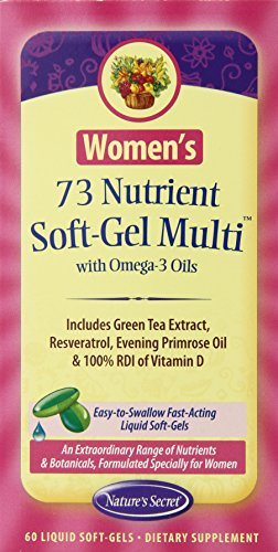 Natures Secret Nutrient Soft Gel 60 Count product image