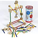 Schylling MKT Super Makit Classic Wood Construction Toy, 70-Pieces