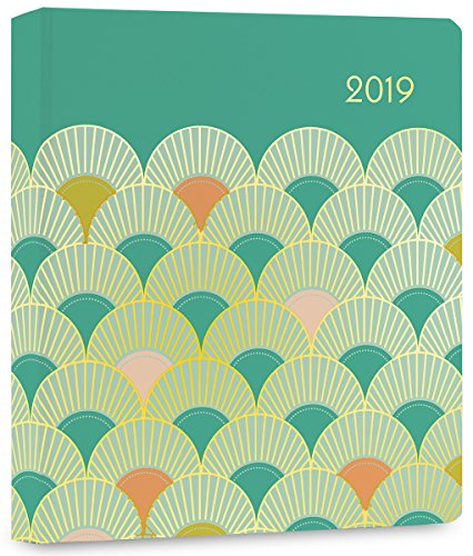 High Note 2019 Gatsby in Gold Hardcover Organizer 18-Month Weekly Engagement Planner - July 2018 to December 2019, 7