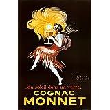 Leonetto Cappiello Cognac Monnet Vintage Ad Art Print Poster - 24x36