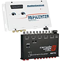 The Epicenter by AudioControl Bass restoration processor (WHITE) + Cerwin-Vega EQ770 - 7-Band Parametric Equalizer with Aux Input