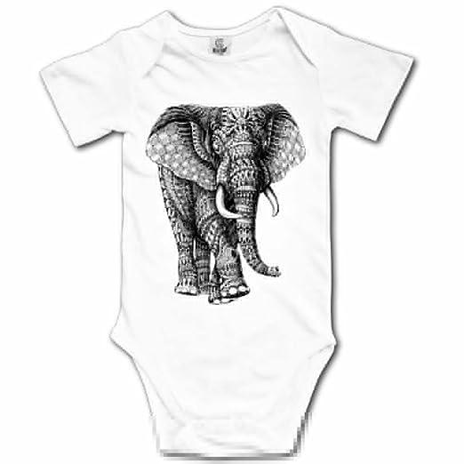 cd1f2613 Amazon.com: BBCute Boys Elephant Baby Infant Bodysuit - Short Sleeve ...
