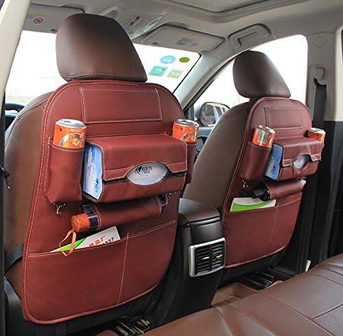 HCMAX 1 Pack Voiture Si/ège Arri/ère Organisateur Poche Backseat Protecteur Sac de Rangement Support de Tablette Kick Mat Titulaire de lipad Multi-poche Grand Accessoire de Voyage