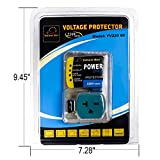 HVAC YELLOW HAT Voltage Protector Brownout 220V60Hz Refrigerator AC Electronic Surge Protector for Appliances Protects Appliances from Damaging&Costly Voltage Spikes/Dips