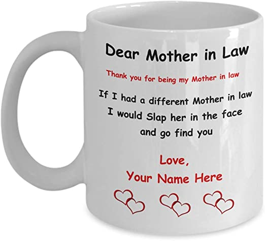 11oz mug World/'s Best Mother-In-Law Printed Ceramic Coffee Tea Cup Gift