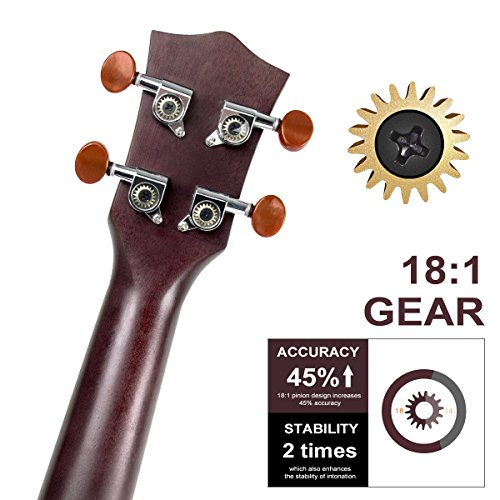 Ukulele Soprano Mahogany Ukelele Uke With Beginner Kit ( Ukele Gig Bag Tuner Strap String Instruction Booklet ) (21 Inch Special Offer) - Image 2