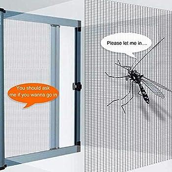 شبكة للنوافذ استبدال شبكات النوافذ شبكة 118 إنش استبدال شبكات الأبواب مانعة للناموس والذباب والحشرات شبكة من الألياف الزجاجية Amazon Ae